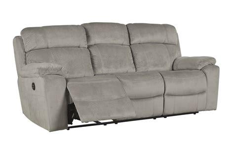 reclining sofa with adjustable headrest tony granite power reclining sofa with adjustable headrest