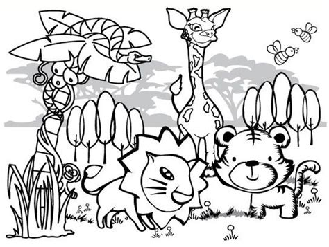jungle coloring pages for preschoolers jungle coloring pages 11 printables pinterest