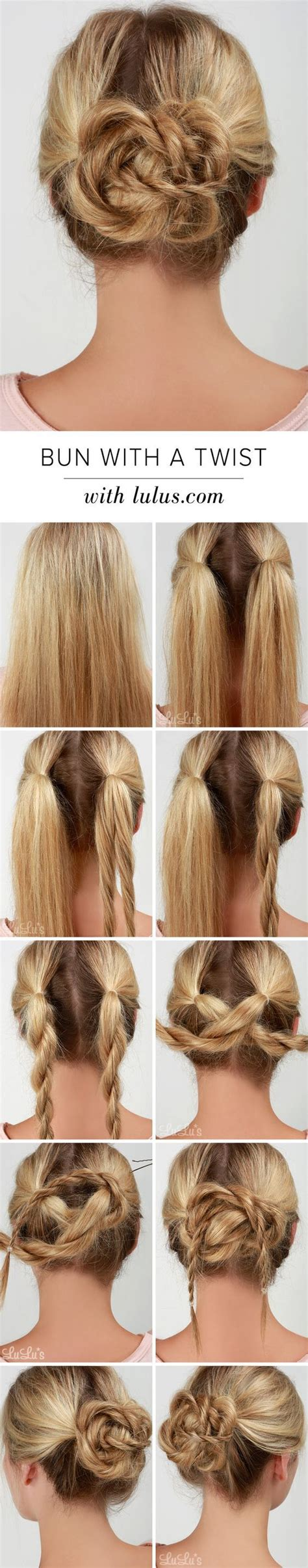 Hairstyle Easy Bun by Easy Bun Hairstyles Buns For And Hair Braided