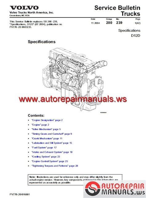 specifications volvo engine d12d auto repair manual