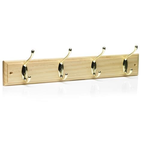 coat hooks and racks 2x 4 hook pine wooden folding double hook door hanger coat rack storage screw on