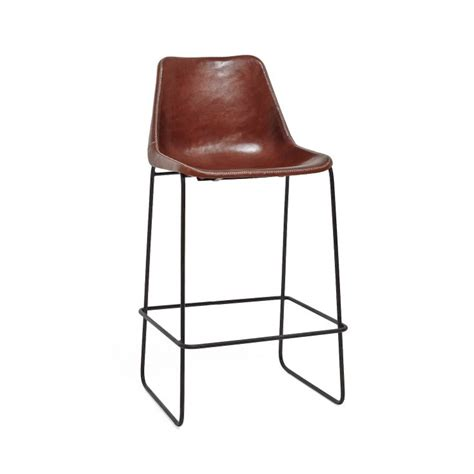 leather and iron bar stools giron brown leather iron barstool client oceanside