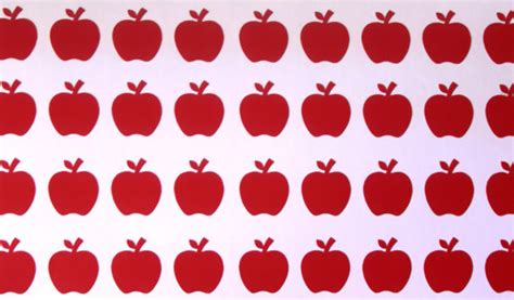 Wallpaper Sticker Gold Black Batik 130 tiny vinyl apple stickers apple decals removable