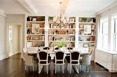 Dining Room Bookshelves Simply Beautiful House A Library Dining Room
