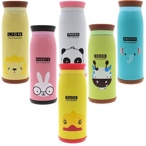 Botol Minum 500ml By Miniso botol minum termos animal 500ml leher karet elevenia