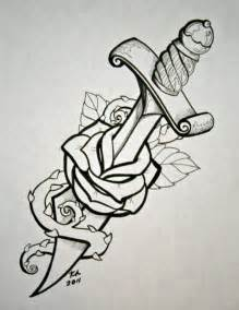 dagger with rose by knezak on deviantart