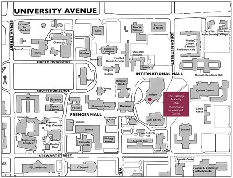 nmsu map directions to event venues teaching academy new mexico state