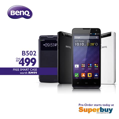 Benq B502 2gb 16gb Putih benq b502 bakal dijual di malaysia pada harga rm499