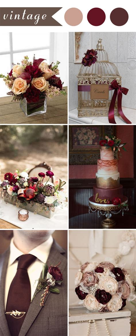 burgundy wedding themes ideas for 2017