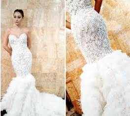 fall 2015 winter 2016 wedding dress trends dipped in lace