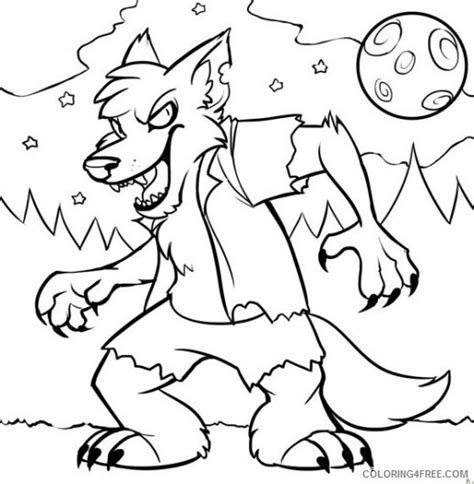 baby werewolf coloring page werewolf monster coloring pages coloring4free