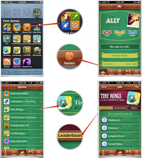 how to mod game center leaderboards how to view leaderboards achievements and more with game