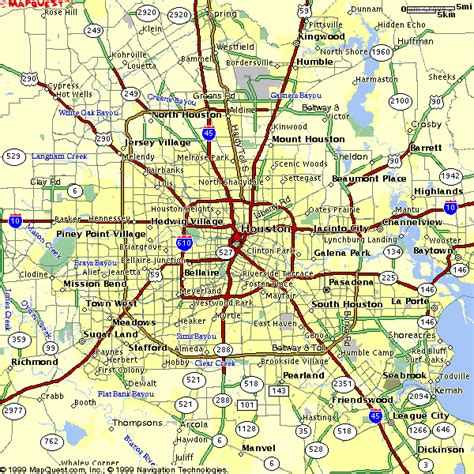 map of houston tx area maps
