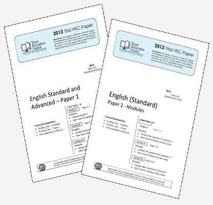 2013 Trial Hsc English Standard Papers 1 Amp 2 Total