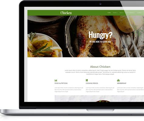 chicken free food chicken free food joomla template joomlead