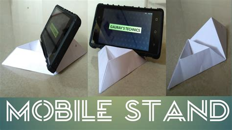 how to make a card stand how to make mobile stand using card paper