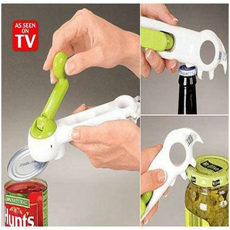 Kitchen Can Do Can Opener 7 In 1 Pembuka Kaleng Botol one touch kitchen can opener can do bottle opener 6 in 1 creative convenience boxamall