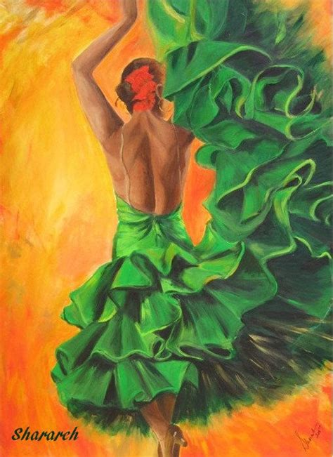 Painting 049 Sle Paper by Flamenco Dancer Print On Paper Flamenco Dancer In