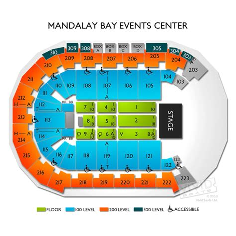 Floor Layout Free Online by Mandalay Bay Events Center Tickets Mandalay Bay Events