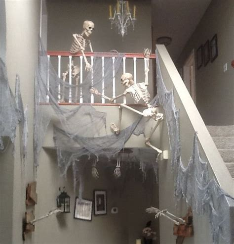 skeleton decoration ideas skeleton stairway decor pictures photos and images for