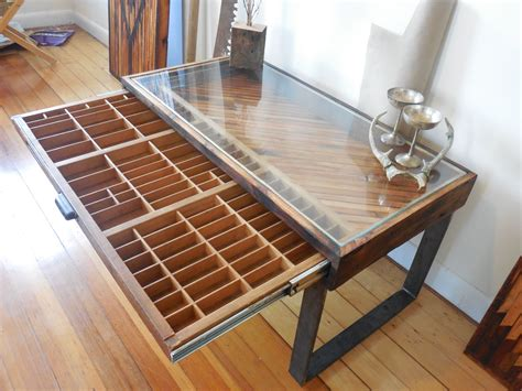Custom Wood Coffee Table Made Reclaimed Wood Coffee Table Printer Drawer By Unique Industry Custommade