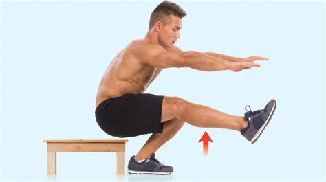 one legged squat with bench power up your lower limbs with the box squat coach