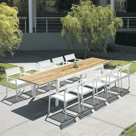 Patio Table Extension Mamagreen Baia Outdoor Extension Patio Teak Dining Table