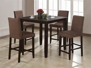 Dinette Sets Cappuccino Finish Contemporary Counter Height 5 Pc Dinette Set