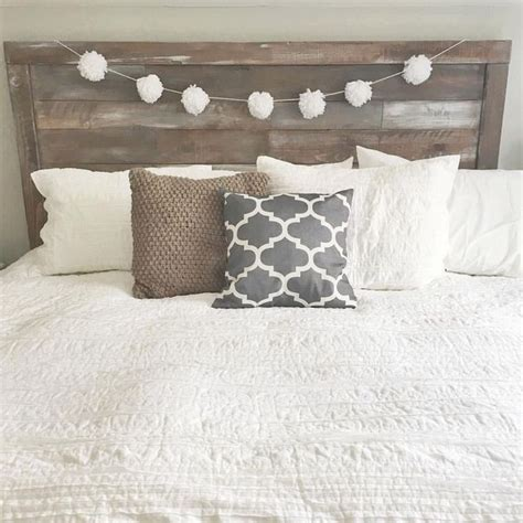 25 best ideas about rustic wood headboard on