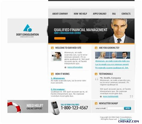 templates for technology website information technology company template download over