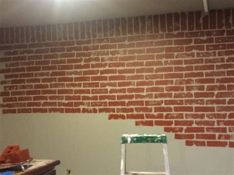 how i painted faux brick walls in the mancave give your walls a new look with a faux brick wall diy