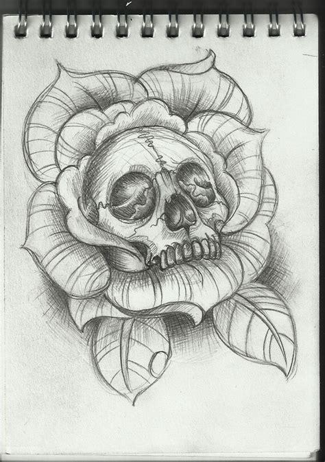 tattoo pinterest skull skull and rose drawing skull rose sketch tattoos