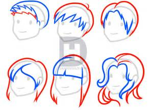 step by step hairstyles to draw how to draw hair for kids step by step by darkonator