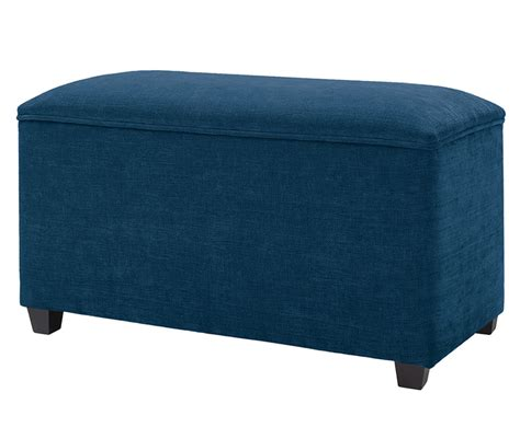 Ardenne Faux Leather And Suede Ottoman Faux Suede Storage Ottoman