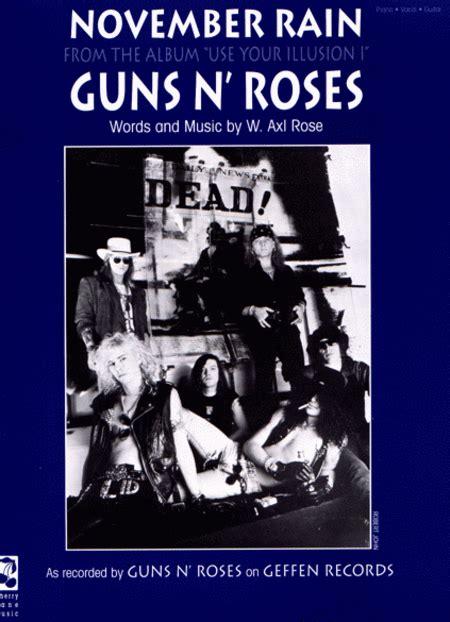 november rain sheet   guns  roses sheet