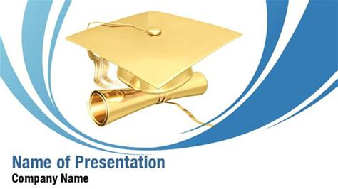 Gilded Graduation Powerpoint Templates Gilded Graduation Graduation Powerpoint Background