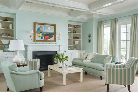 mint colored traditional living room interiors  color