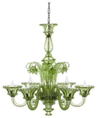 green glass chandelier green glass chandelier eclectic chandeliers by horchow