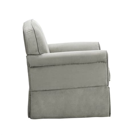 swivel glider and ottoman set swivel glider and ottoman set in light gray wm6009sgo mg
