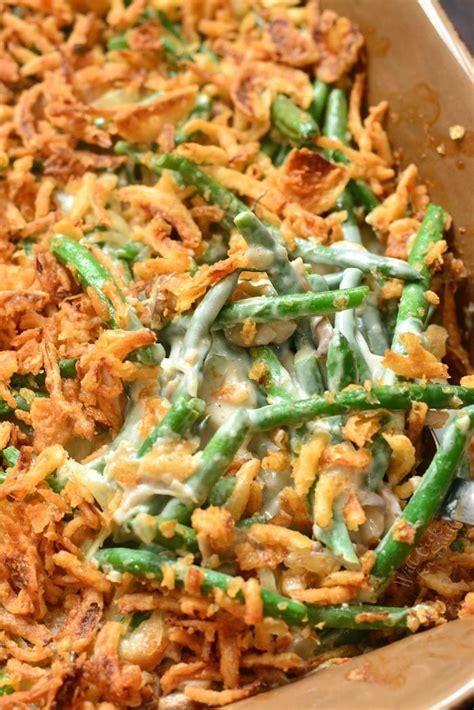 green bean casserole  cook  smiles