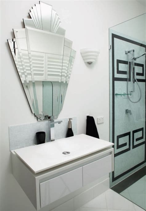 Art Deco Bathroom Mirror | how to create an art deco contemporary bathroom love