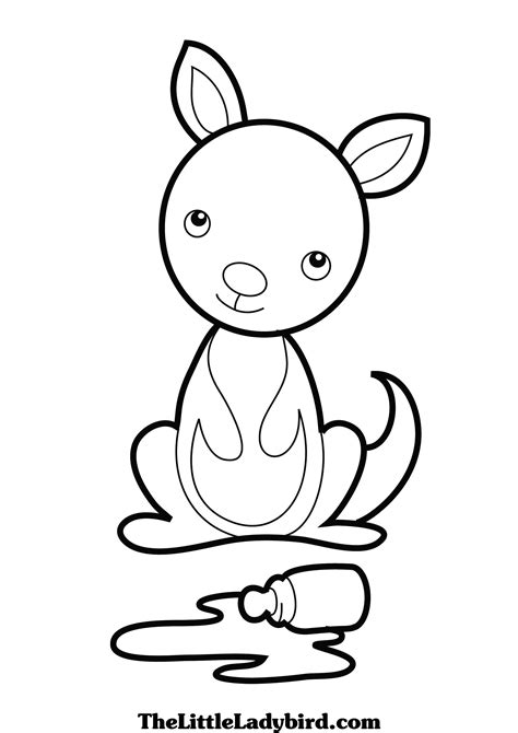 baby kangaroo coloring page free animals coloring pages thelittleladybird com