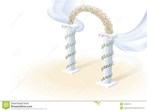 Wedding Arch Vector by Wedding Arch Stock Vector Image Of Marriage Flowers