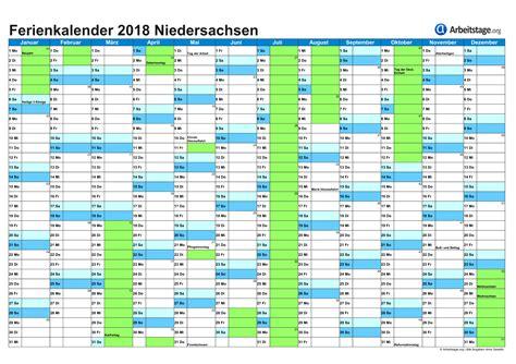 Ferienkalender Niedersachsen 2018 Ferien In Niedersachsen Ni 2018 2019 Ferienkalender