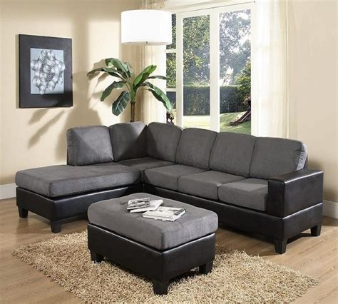 leather reversible sectional and ottoman laurent reversible sectional w ottoman sectionals