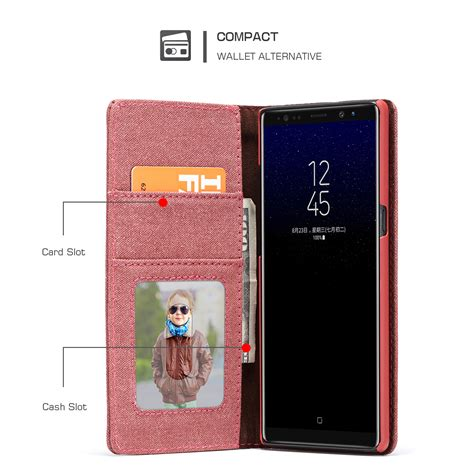 Samsung Galaxy Note 8 Leather Casing Kulit Flip Cover Caseme canvas leather for samsung galaxy note 8 wallet card flip cover stand phone ebay
