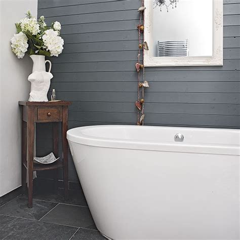 painted tongue and groove bathroom modern bathroom with grey panelling decorating