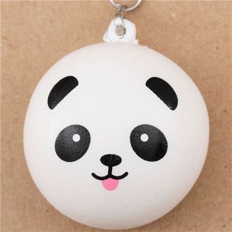 Dr Who Mobile Charms Make Your Mobile More Charmingly Annoying by Panda With Tongue Bun Squishy Cellphone Charm Kawaii