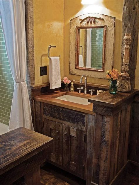 love the small rustic vanity rustic pinterest