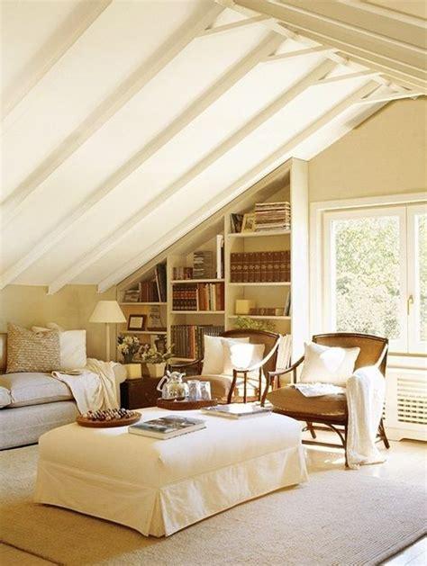 cozy white living room 26 stylish attic living rooms decor ideas shelterness